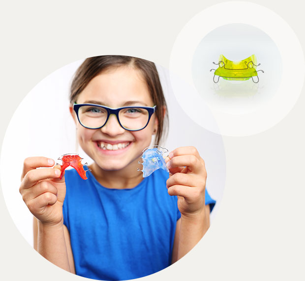 Herausnehmbare Zahnspange Kinder